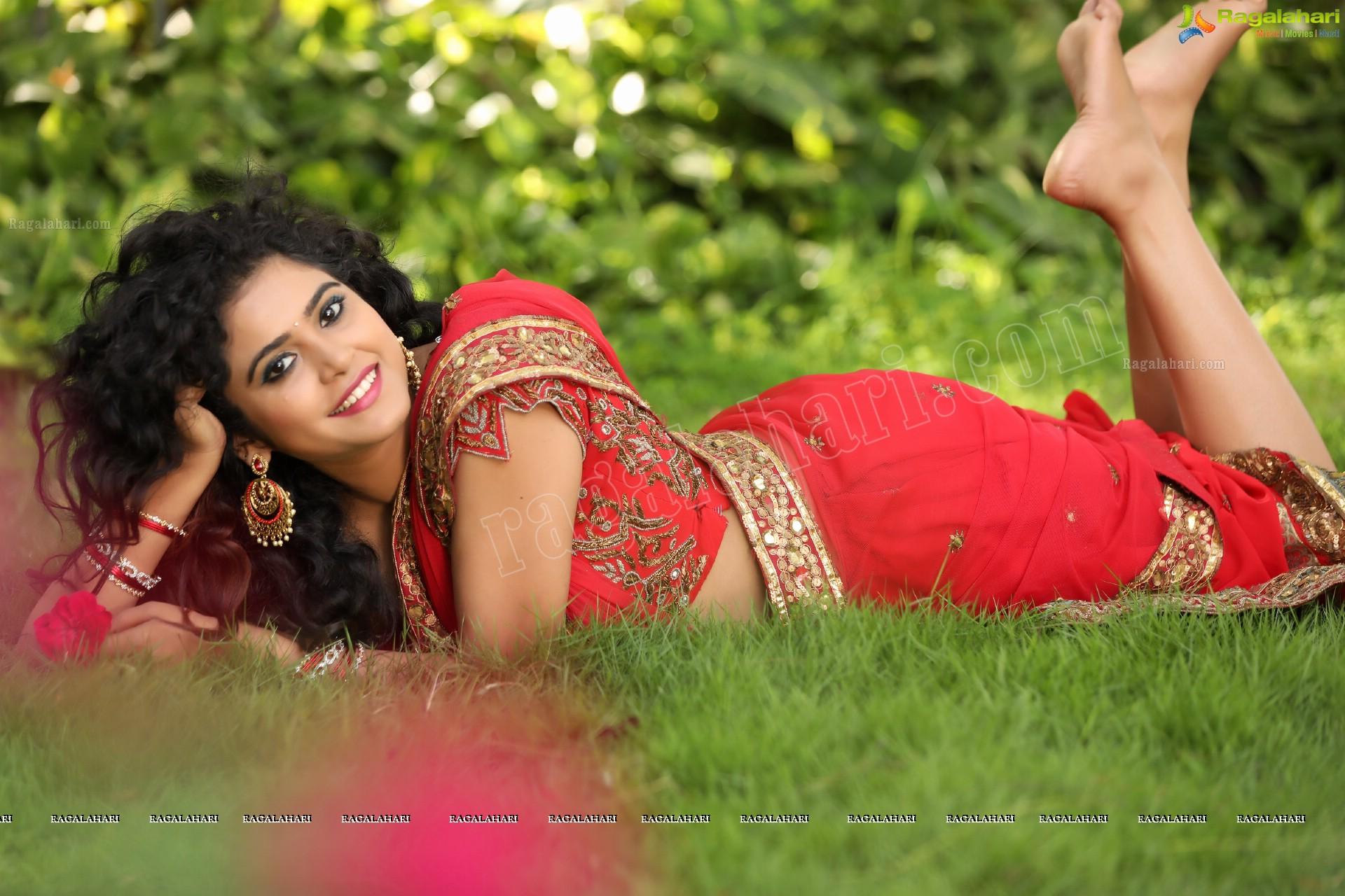 Sonakshi Varma Red Sowmya Venugopal Saree