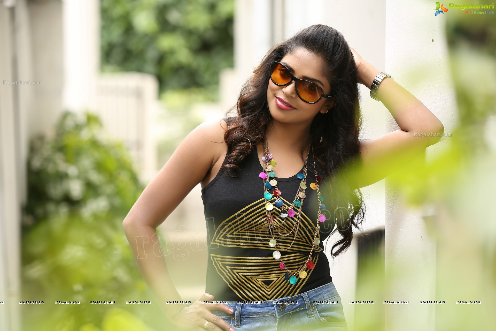 Beautiful Karunya Chowdary In Pink Saree Ragalahari Exclusive
